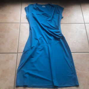 Athleta Blue Nectar Faux Wrap Dress Size XLT
